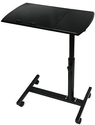 Schietto Tavolo In Legno Nero Laptop Stand Su Ruote- I Clienti Prima Di Tutto