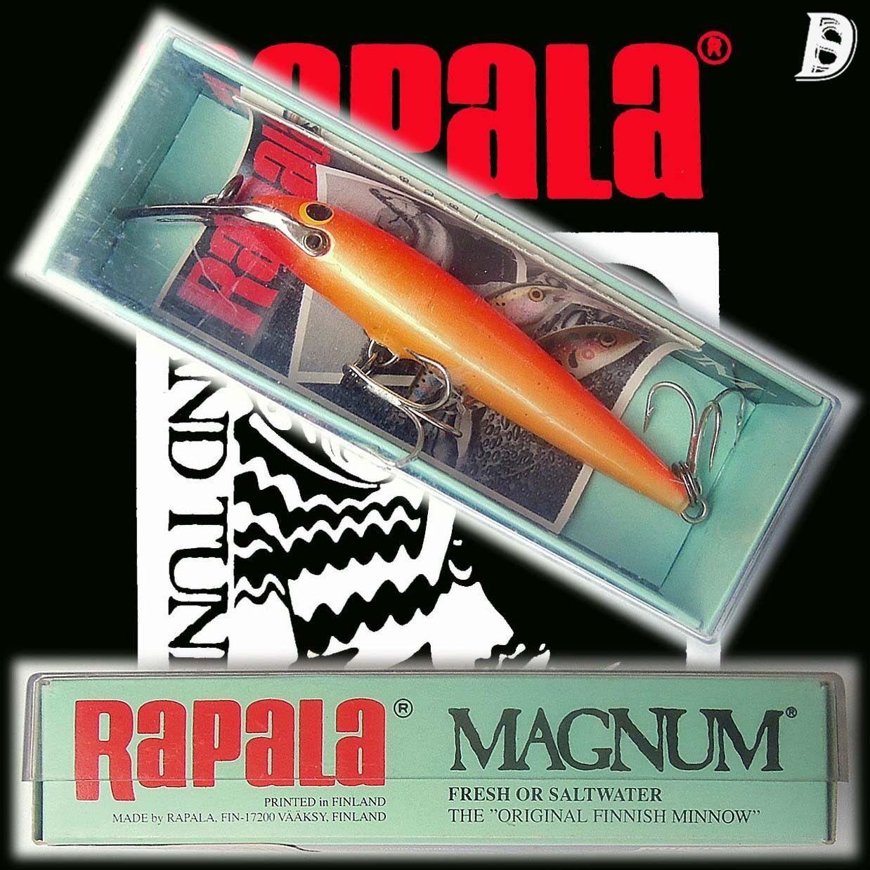 Vintage Rapala Magnum Countdown 8cm GFR Neu in Box Finnland, extrem selten