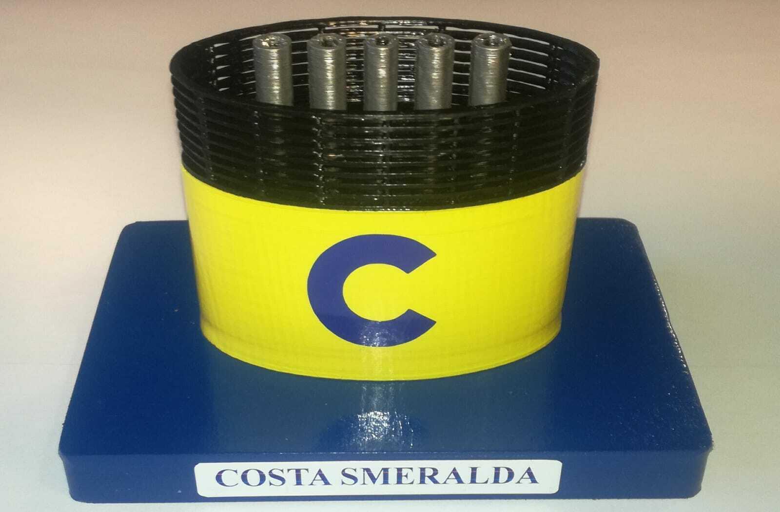 NEW - COSTA SMERALDA model funnel - Modelo ciminiera scale 1 300 Costa Crociere