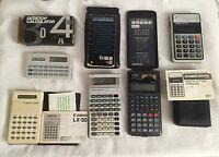 Vintage Electronic Calculators Lot of 5: Canon,Casio, TI Scientific