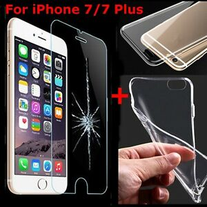 9H-Tempered-Glass-Screen-Protector-Clear-TPU-Case-for-iPhone-7-7-Plus-6-5s-New