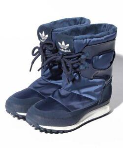 ADIDAS ORIGINALS SNOWRUSH W S81384 BLUE WOMENS WINTER BOOTS SPORT STYLE