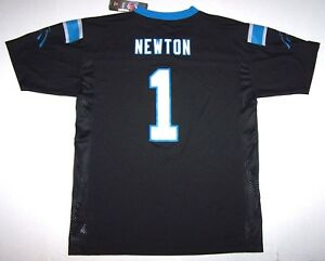 Nwt New Carolina Panthers Jersey NFL Football Cam Newton #1 Black  for sale