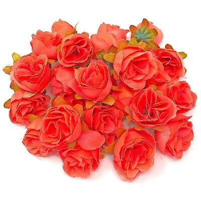Faux Silk Coral Rose Bud Decorative Synthetic Flowers UK SELLER