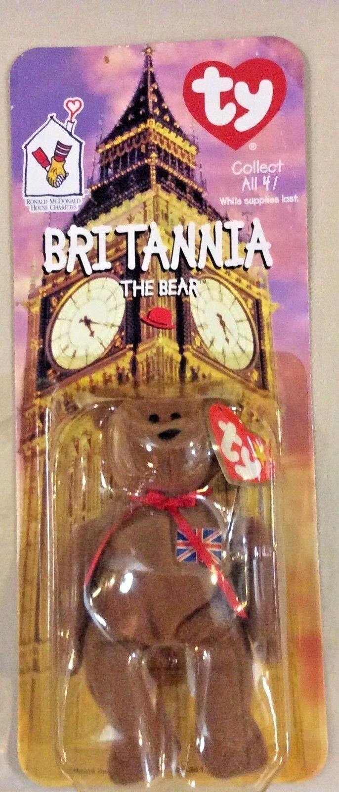 Ty Beanie Baby Britannia The Bear RARE RARE RARE Ronald McDonald House Charities NEW   NIP bd4fdc