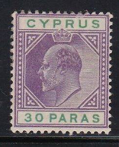 Album-Tresors-Cyprus-Scott-39-30pa-Edward-VII-Excellent-Etat-a-Charnieres