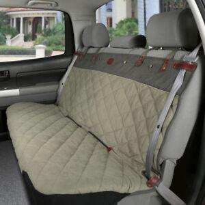 Solvit Premium Bench Seat Cover Green Tan 47 X 56 Inches