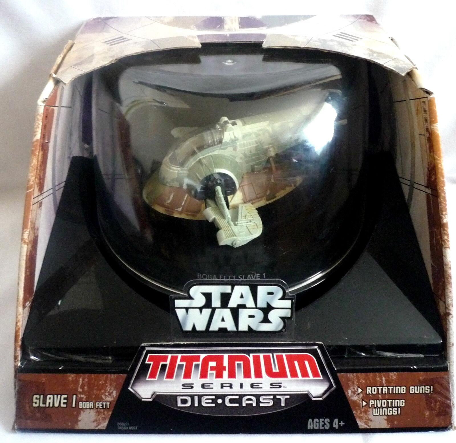 STAR WARS TITANIUM SERIES   DIE CAST BOBA FETT FETT FETT SLAVE 1   NEW WITH BOX adbdb7