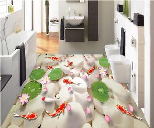 3D Petals Stone Fish 74 Floor WallPaper Murals Wall Print Decal AJ WALLPAPER US