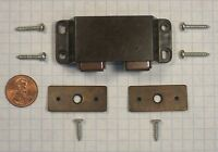 Futaba D-6w-brown Double Magnetic Catch, Dark Brown Plastic, 68mm Width
