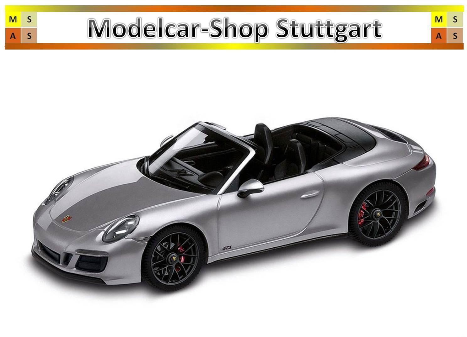 Porsche 911 Carrera 4 GTS Cabriolet silver Herpa 1 43 WAP0201040H neu