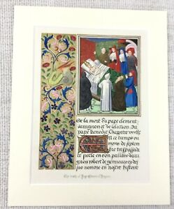 1844 Antique Print The Death of Pope Clement of Avignon France Medieval History