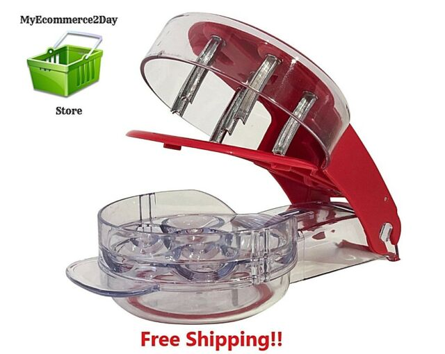 Kitchencraft Healthy Eating 1-Press Cherry Pitter//Olive Stoner White//Red