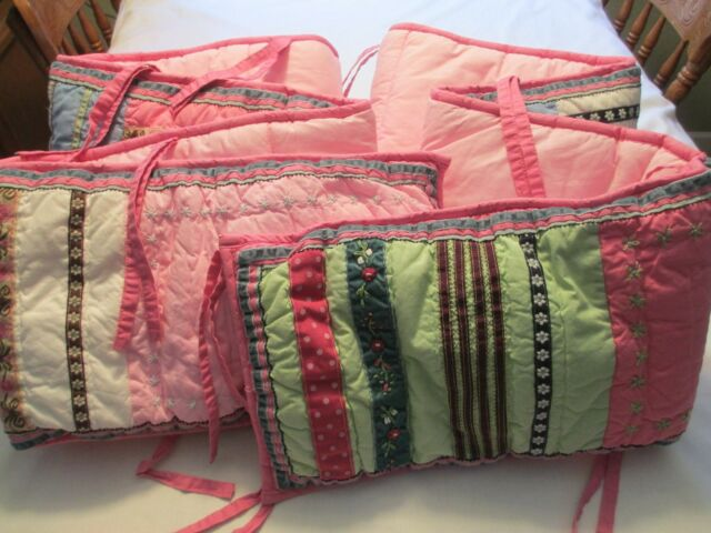 Pottery Barn Kids Girls Baby Pink Green Aqua Patchwork