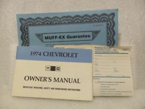 1974 CHEVROLET CHEVY Owners Manual Set 16018