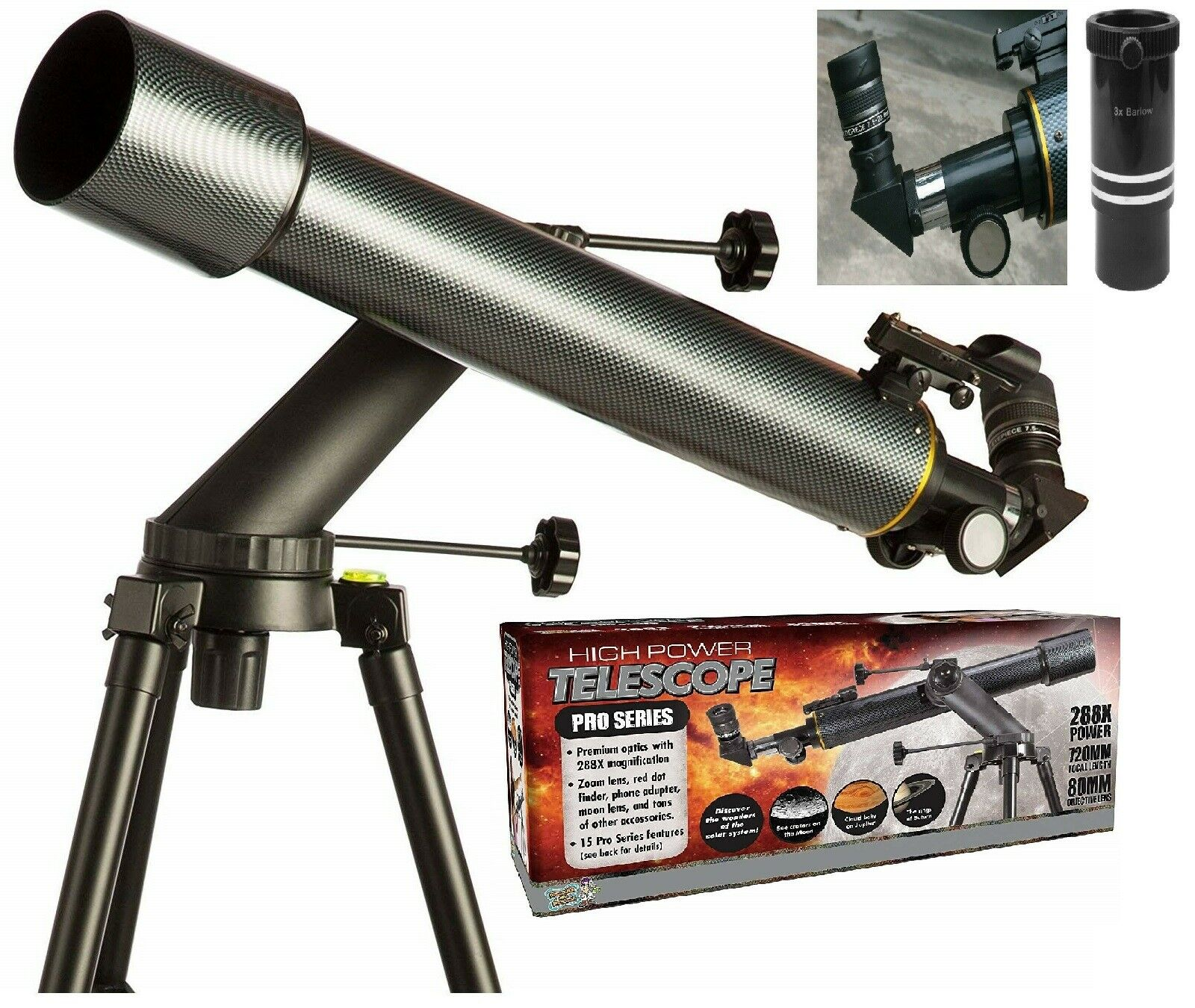 Discover with Dr Cool PRO Series Refractor Telescope Ages 14+ Power Solar System