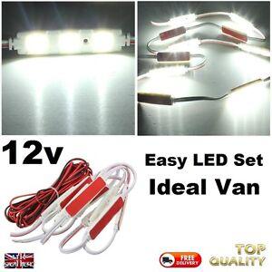 Camper-Work-Van-12V-LED-Lamp-Interior-Lighting-Kit-Bright-White-Pack-12-Volt