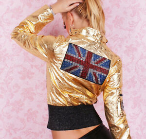 Women-039-s-Short-Jacket-Sexy-Ladies-Summer-Casual-Tattoo-Redial-Jacket-Size-10-UK