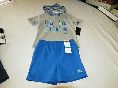 Quiksilver Boys baby youth hoody T shirt shorts set outfit 24 M month 4057032-99