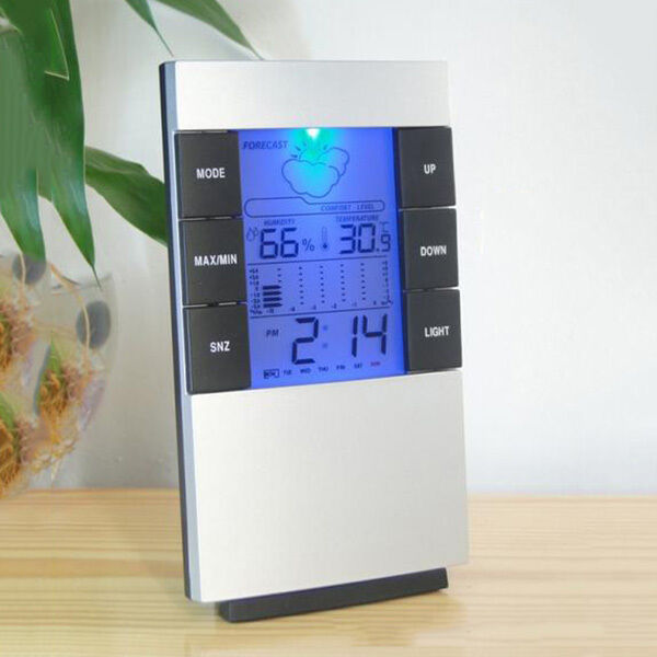 Indoor Weather Station Temperature Hygrometer Thermometer Humidity Alarm Clock