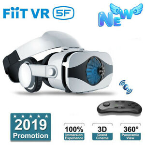 VR-Headset-Virtual-Reality-3D-Glasses-Fan-Cooling-VR-BOX-Remote-Contorller-New