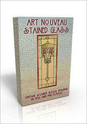 Art Nouveau Stained Glass Designs - 100s of Public Domain pictures.  Mackintosh!