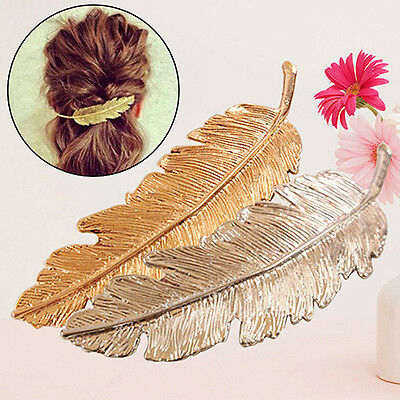 Women's Comely Style Leaf Hair Clip Pin Claw Leaves Hairpin Barrette Accessory