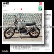#079.07 YANKEE 500 Z 1972 OFF-ROAD Fiche Moto Motorcycle Card
