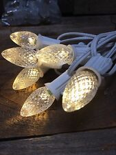 25 Replacement Bulbs LED Clear Steady Warm White Size C-7 130V .96 Watts .73Mamp
