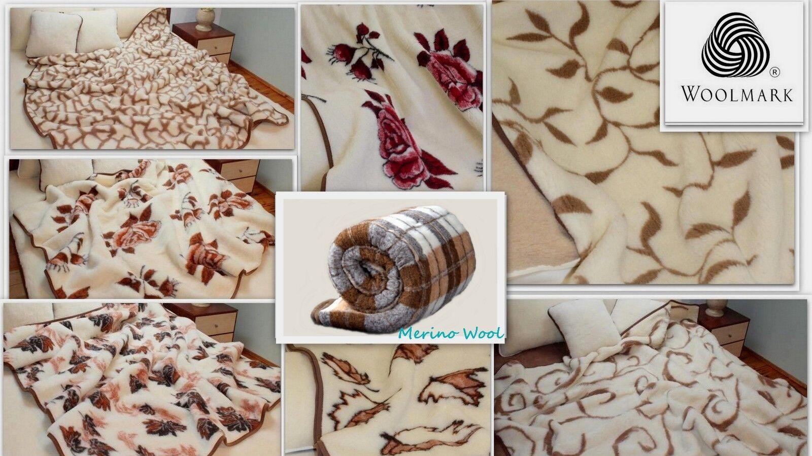 Oferta Woolmark Lana de Merino Pura Sofá de Manta Almohadilla Manta 100% Natural