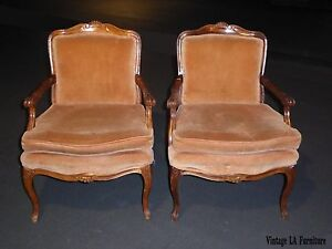 Image Is Loading Pair SAM MOORE Vintage French Provincial Lite Coral