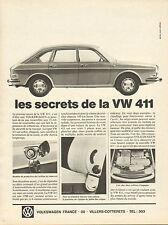 Publicité Advertising 1968  VOLKSWAGEN 411  VW vintage print AD