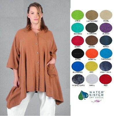 M-1X//2X 2018 COLORS WATERSISTER Cotton Gauze  ARIANA Sharkbite CARDIE Top OS
