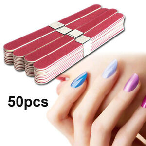 50pcs papier de verre de bois outils grit nail art manucure tampon poncer ebay. Black Bedroom Furniture Sets. Home Design Ideas