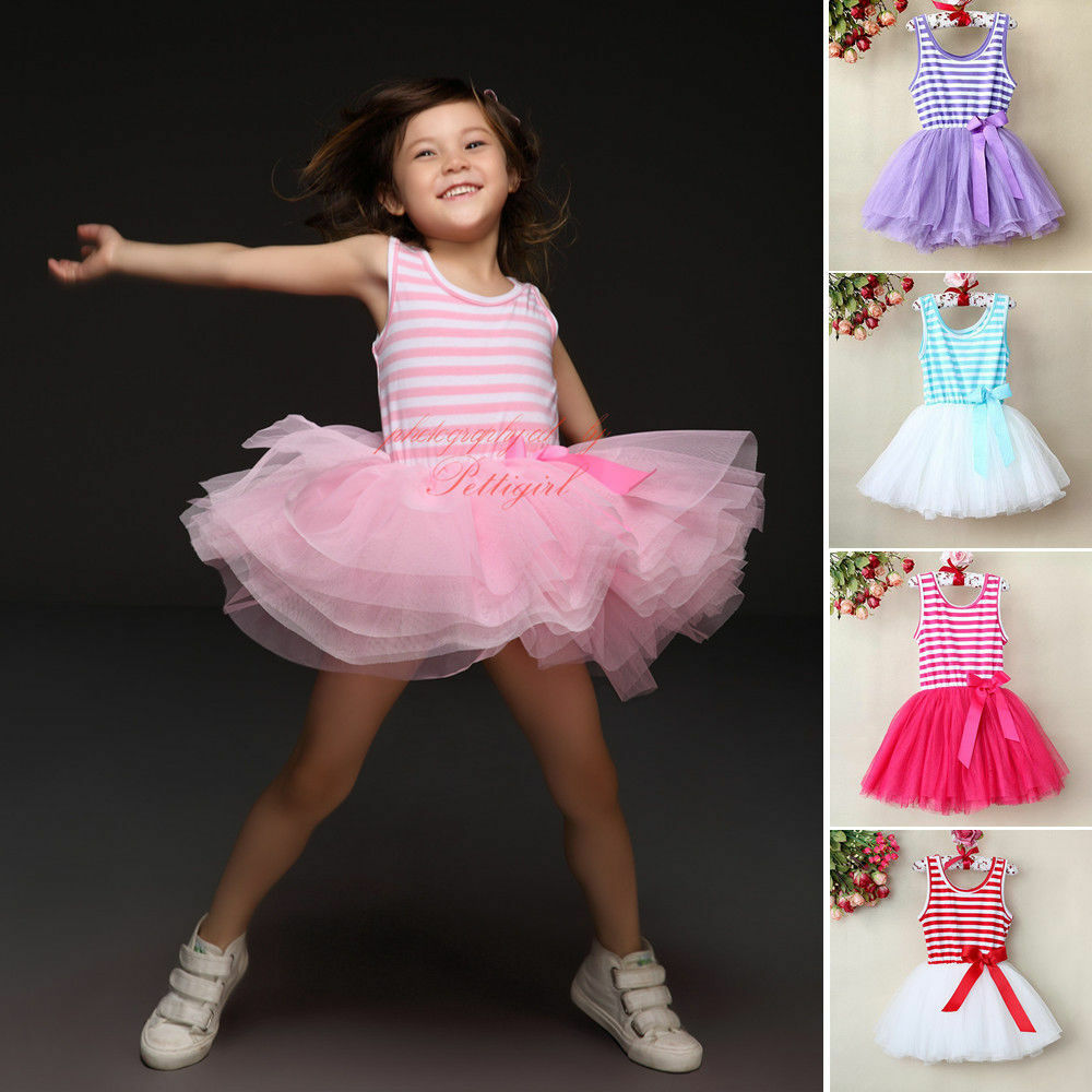 Baby Girls Toddlers Kids Princess Tulle Dresses Pageant ...