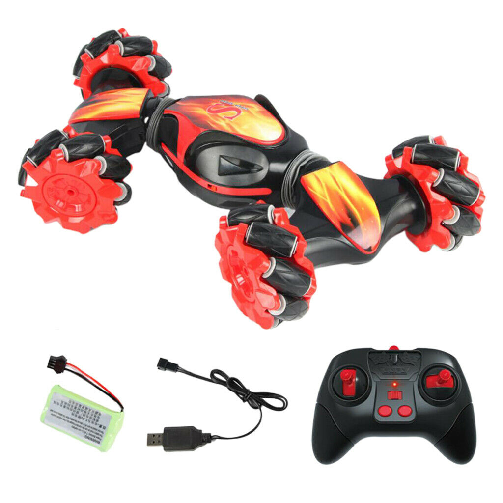 RC coche 4WD gesto control remoto deriva del vehículo de detección de juguetes para niños de conducción Rojo