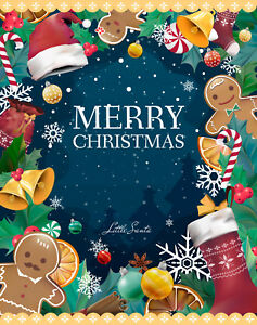 Christmas Greeting Card Vector Template - Digital Download
