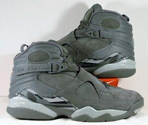 99374adcb45 Nike Air Jordan Retro 8 VIII Triple Suede Cool Wolf Grey Sz 8.5 NEW ...