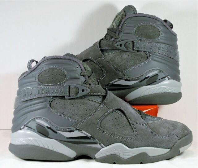 on sale 3b8ca 4d153 Nike Air Jordan 8 Retro Size 8.5 Cool Grey Wolf Gray Suede 305381 014