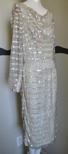 Vintage Dress Ceil Chapman Cocktail Sequins Beadi… - image 1