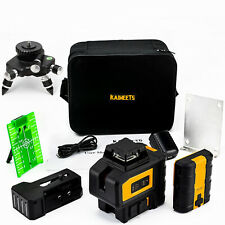 Kt360b Green Laser Level With Magnetic Rotating Stand And Metal Tripod Base