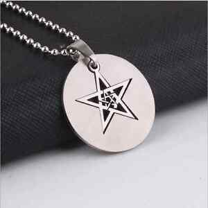 Hollow-star-Womens-Mens-Silver-316L-Stainless-Steel-Titanium-Pendant-Necklace