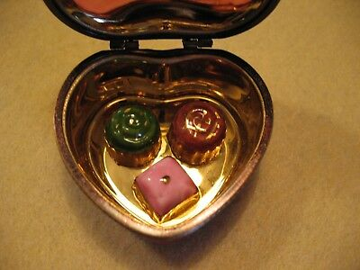 Pre-Owned Limoges Trinket Box Red Heart Chocolates Forest Gump Legle 2