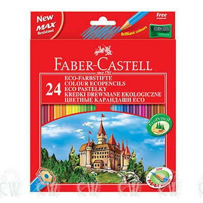 Faber Castell Classic Colour Pencil Set of 24 Colouring Pencils. Inc Sharpener.