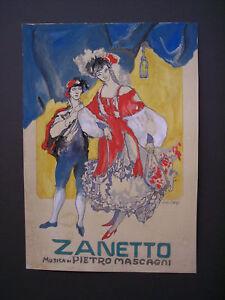 GIUSEPPE-BACCI-bozzetto-locandina-ZANETTO-di-P-Mascagni