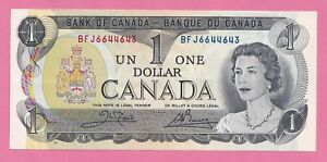 7-x-1973-1-Bank-of-Canada-Note-Crow-Bouey-AU