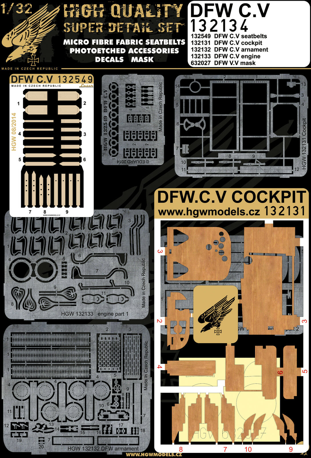 132134 HGW Super Detail set - DFW C.V 1 32