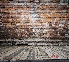 Brick Wood Floor Vinyl photography Backdrop Background Studio Prop 10X10FT DZ369