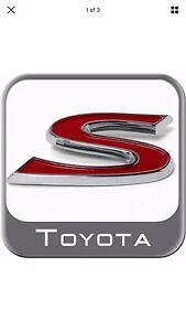 TOYOTA-YARIS-S-SPORT-EMBLEM-2007-2011-TOYOTA-OEM-AND-BRAND-NEW-PT4135206B