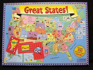 Image Is Loading Great States Board Game Boardgame United Map Geography
